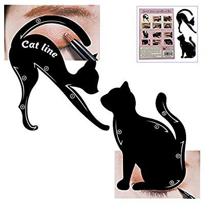 Cat Eyeliner Stencil, Frosted PVC Material Smokey Eye Liner Makeup Stencil Template Stamp,Multifunction Applicators Eyeshadows Make Up Tools(1 PACK): Amazon.co.uk: Beauty