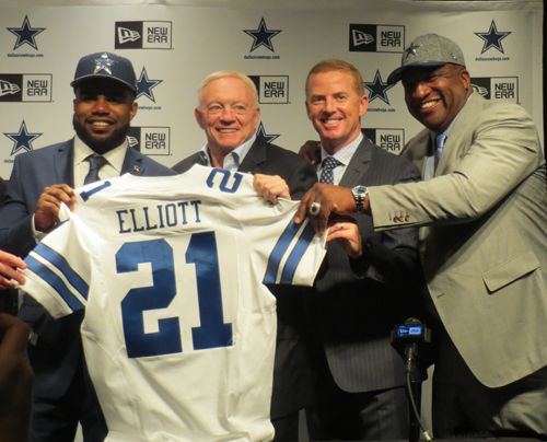 Stacy Elliott is the proud father of Cowboys' first round draft pick Ezekiel Elliott. He accompanied his son on the trip to Dallas for Ezekiel's introductory press conference at Valley Ranch. After talking with Jerry Jones and Jason Garrett, Stacy took time to talk to 5 Points Blue and provide insight on what it's like to have your son become a member of the Cowboys' family.  ...