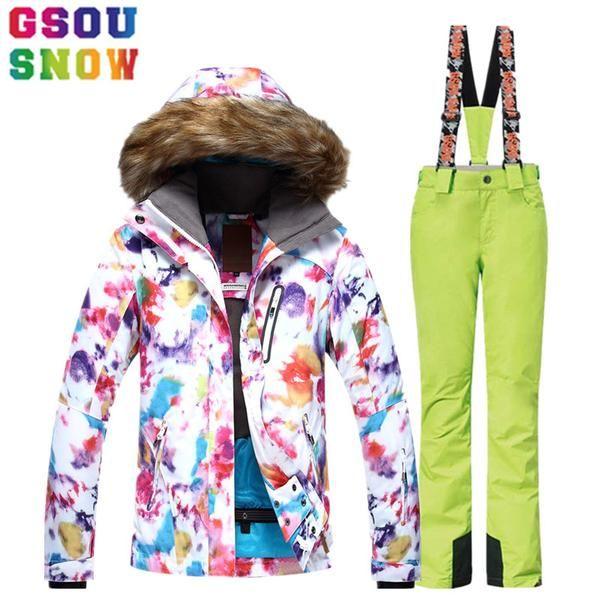 #BlackFriday is coming early #BestPrice #CyberMonday GSOU SNOW Ski Suit Women Ski Jacket Pants Waterproof Breathable Snowboard Jacket Pants…