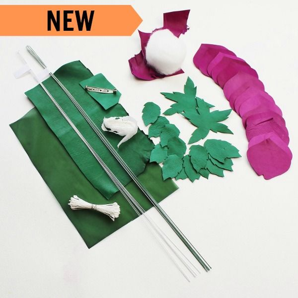 diy leather kit, DIY leather rose kit, Leather flower kit, diy kit, leather rose kit, leather flowers, leather flower pattern, wild leather rose kit