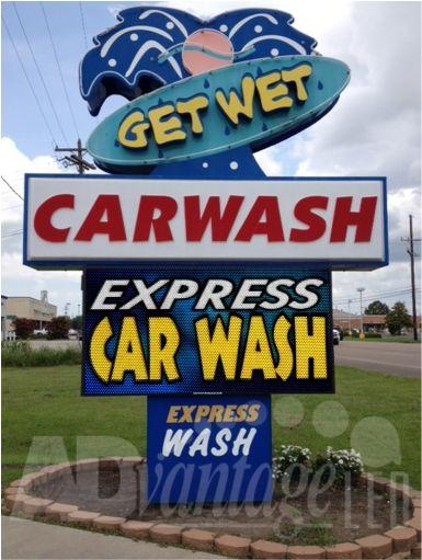 car wash sign more