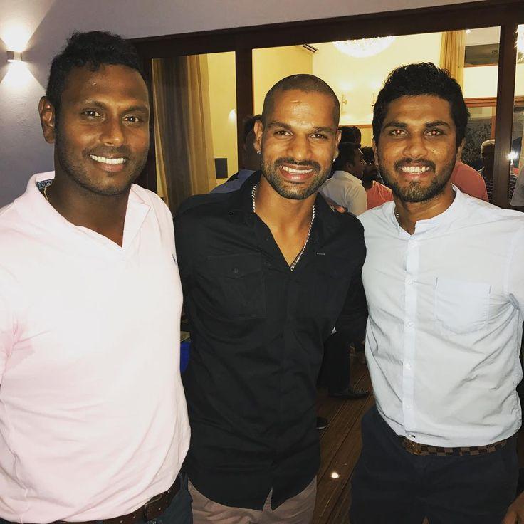 Had great time with sri lankan boys at malinga house for dinner @ange69mathews