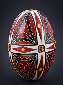 Duck eggs in batik technique – batik technique – gleaming