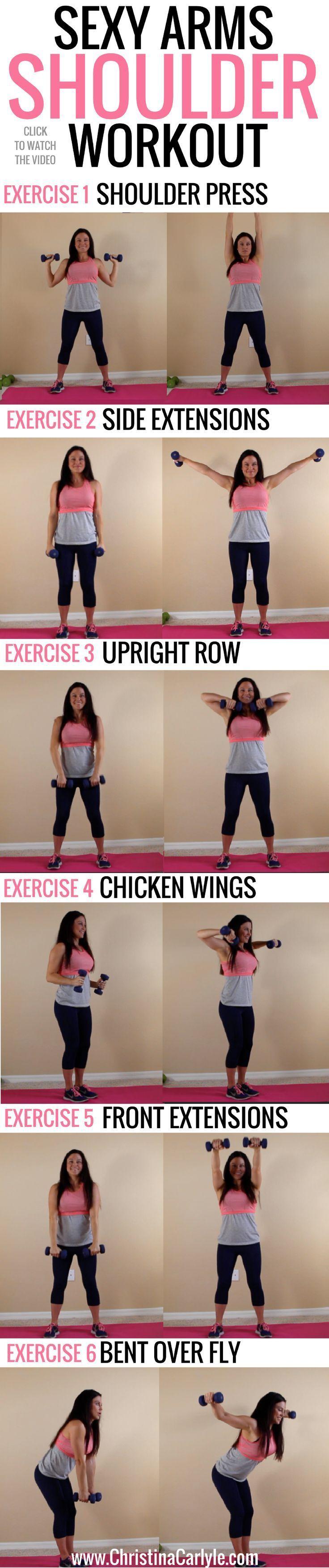 Workout Motivation: I have goals Damnit! Sexy Arms Shoulder Workout for Women