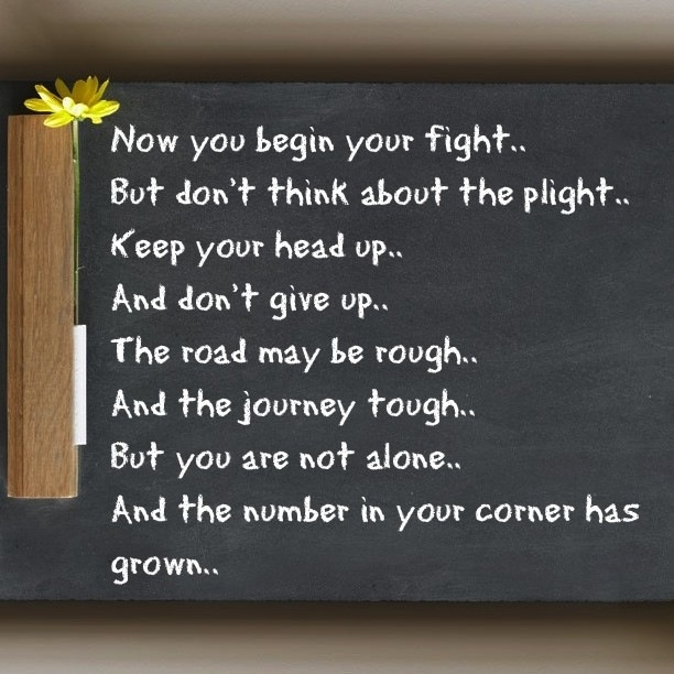 Fight with all your might..