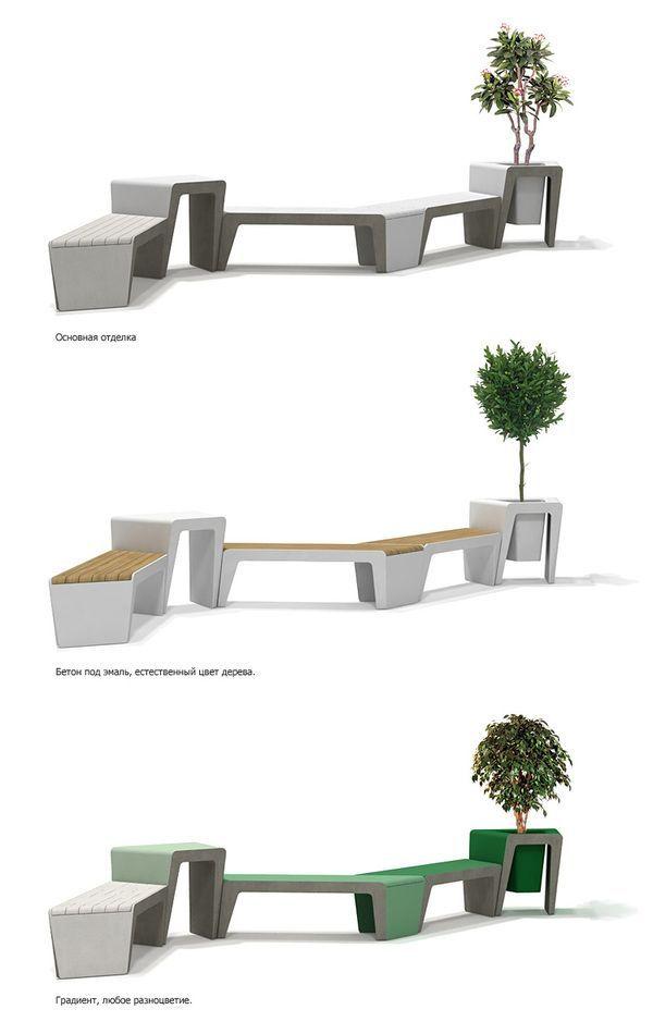 The Module P — urban furniture system design by Mikhail Belyaev, via Behance