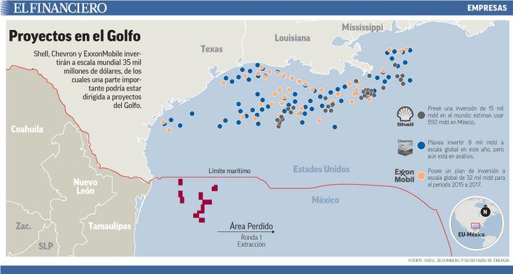 ExxonMobil, Chevron y Shell irían por concesiones al Golfo de México. 16/02/2015
