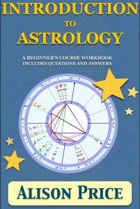 Introduction to Astrology beginner's workbook with questions and answers.