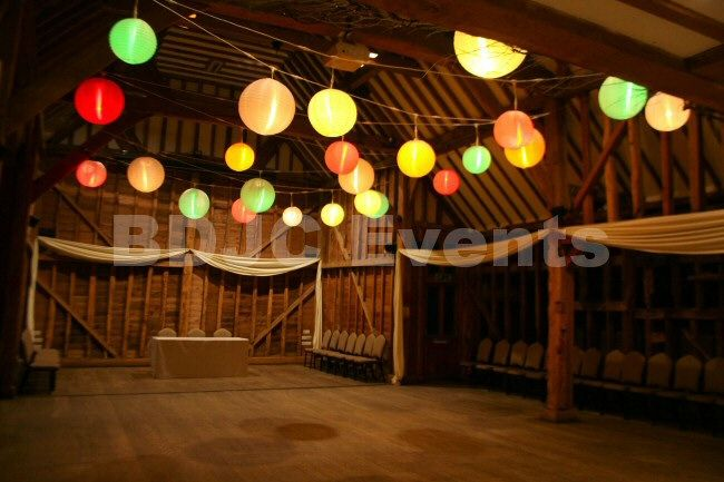 Wedding Barn paper Lanterns for Weddings and Events