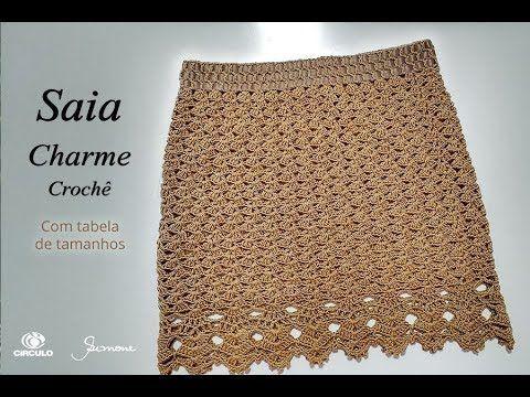 Saia de Crochê Charme - com tabela tamanhos - Simone Eleotério - YouTube