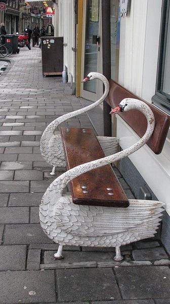 swan bench for my future garden