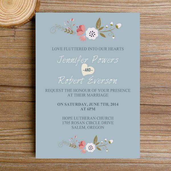 Best 25 invitation kits ideas on pinterest wedding invitation dusty blue floral bohemian wedding invitation kits ewi380 solutioingenieria Gallery