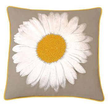 We like this unique daisy cushion - get some country vibes in your home!