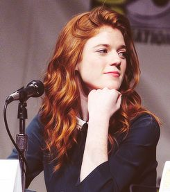Even though the texture of the hair is wrong, I can definitely see Rose Leslie as Valentina, in face at least.