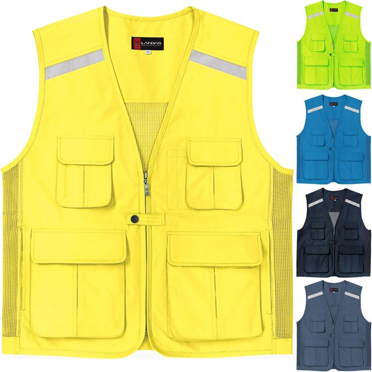 Multi Pockets Mesh Vest Outdoor Camera Hi Vis Security Hunting Sport Travel Work #hellobincom
