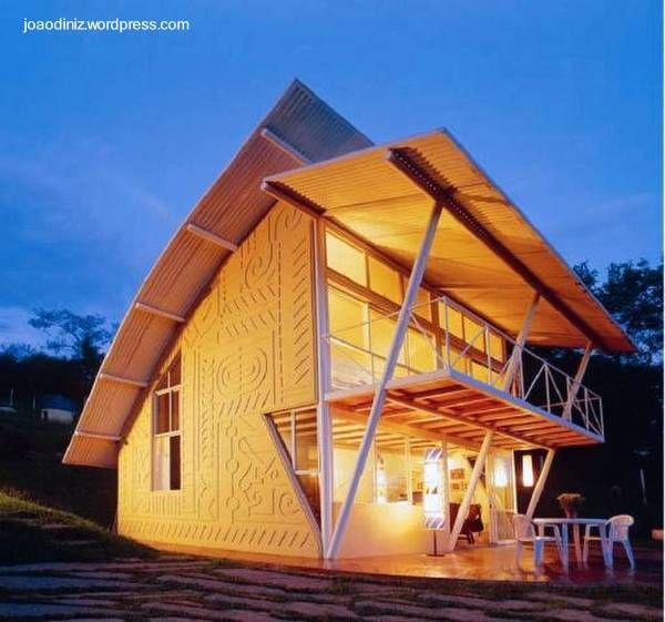 Cabaña de arquitectura Tropical ecológica y bioclimática