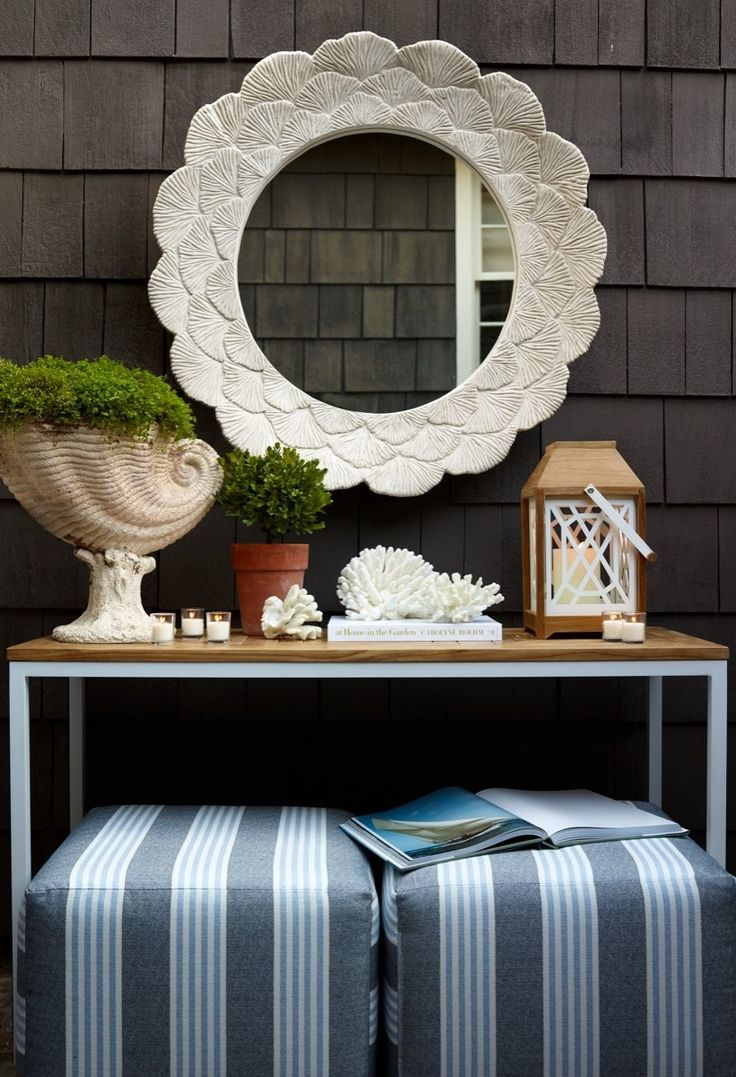 1091 best the outdoor living room images on pinterest outdoor gaze into this outdoor mirror and be transported straight to the beach cast of stone