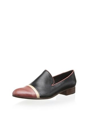 55% OFF Chocolat Blu Women's Dixie Two Tone Slip On Loafer (Black Combo)