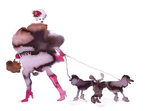 What to Wear When Walking the Dogs 10 - Bridget Davies Prints - Easyart.com
