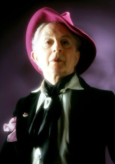 "Quentin Crisp's outlandish habit of wearing bright make-up and dying his long hair crimson provoked hostility in London in the 1930s. He escaped to America during the Second World War, where he became a gay icon known for his controversial views, including describing Aids as a ""fad"", and dubbing Diana, Princess of Wales, ""trash"". Picture: Rex Features"