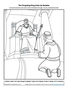 70 best images about parable of the unforgiving servant on for Unmerciful servant coloring page