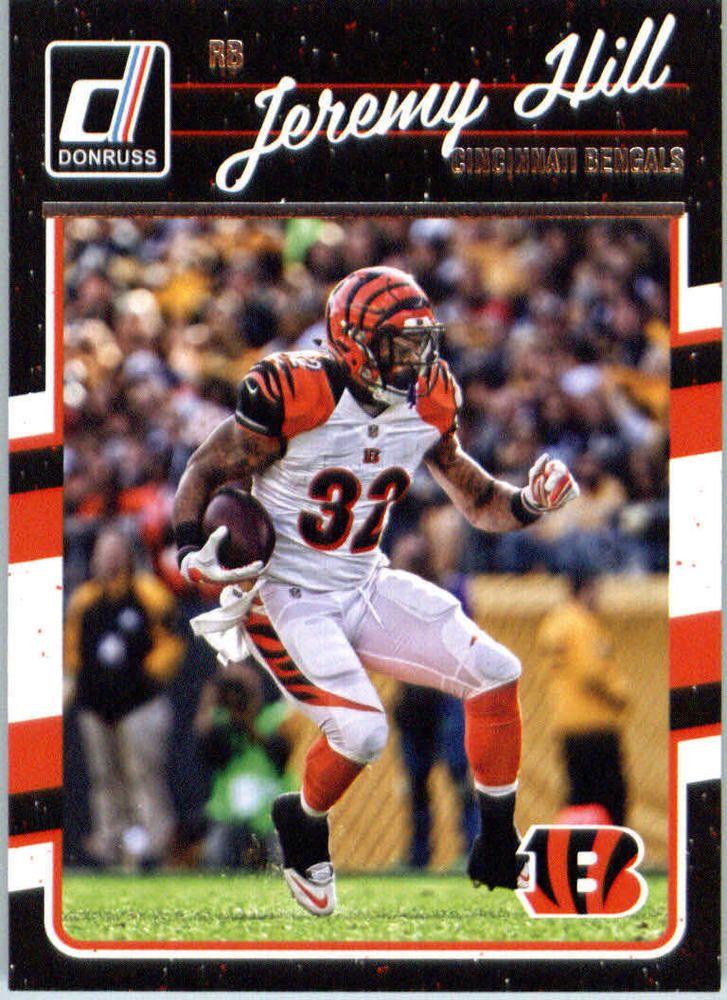 Jeremy Hill 2016 Donruss #60 Cincinnati Bengals LSU Tigers