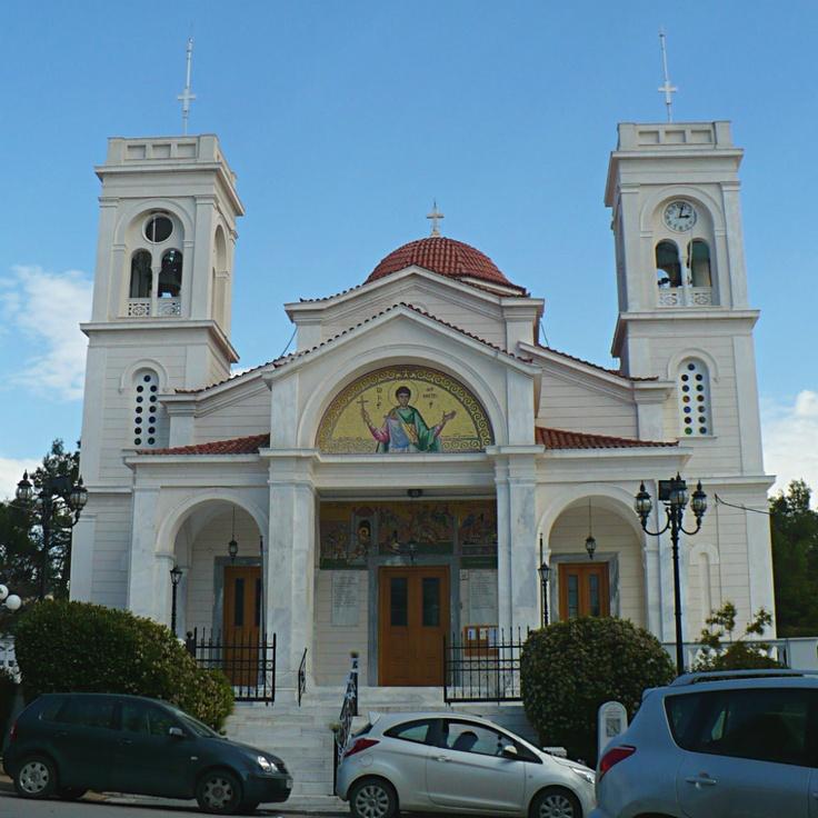 Agios Dimitrios, a church built in 1882, is the patron saint of Kifissia. (Walking Athens, Route 19 - Kifissia)