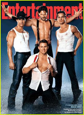Channing Tatum, Matthew McConaughey, Matt Bomer, and Joe Manganiello on the cover of Entertainment Weekly