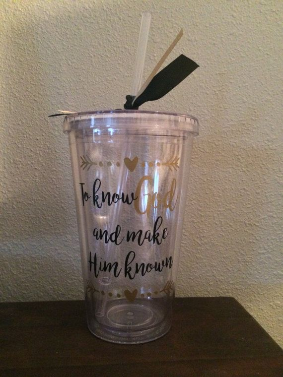 To know GOD and make him known tumbler with straw by ElsiDesign