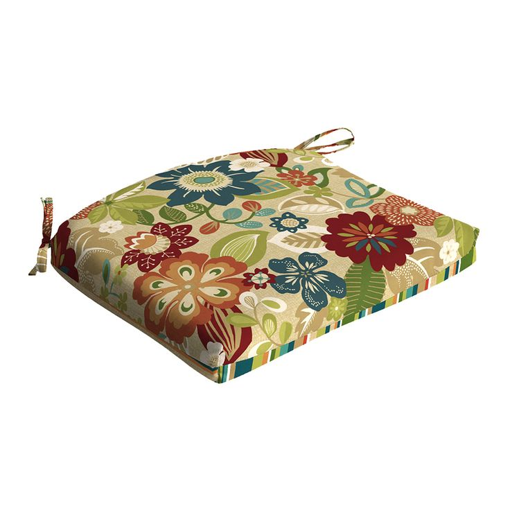 Garden Treasures Bloomery Bloomery Floral Seat Pad For Universal