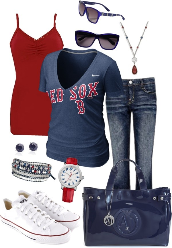 """For the Love of the Sox"" by tina-harris on Polyvore"