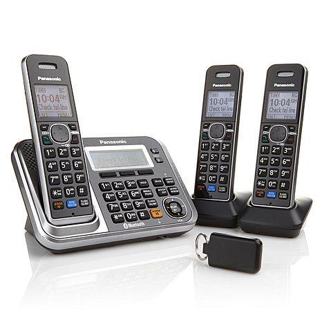 HSN; Panasonic DECT 6.0 PLUS 3pk Link2Cell Cordless Phones...text alerts