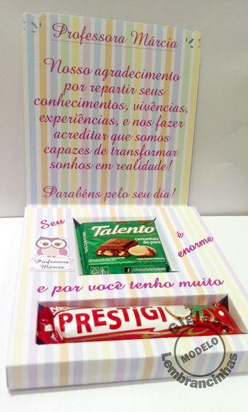 Caixa Cartão Dia dos Professores | Gigiane Lembrancinhas | Elo7