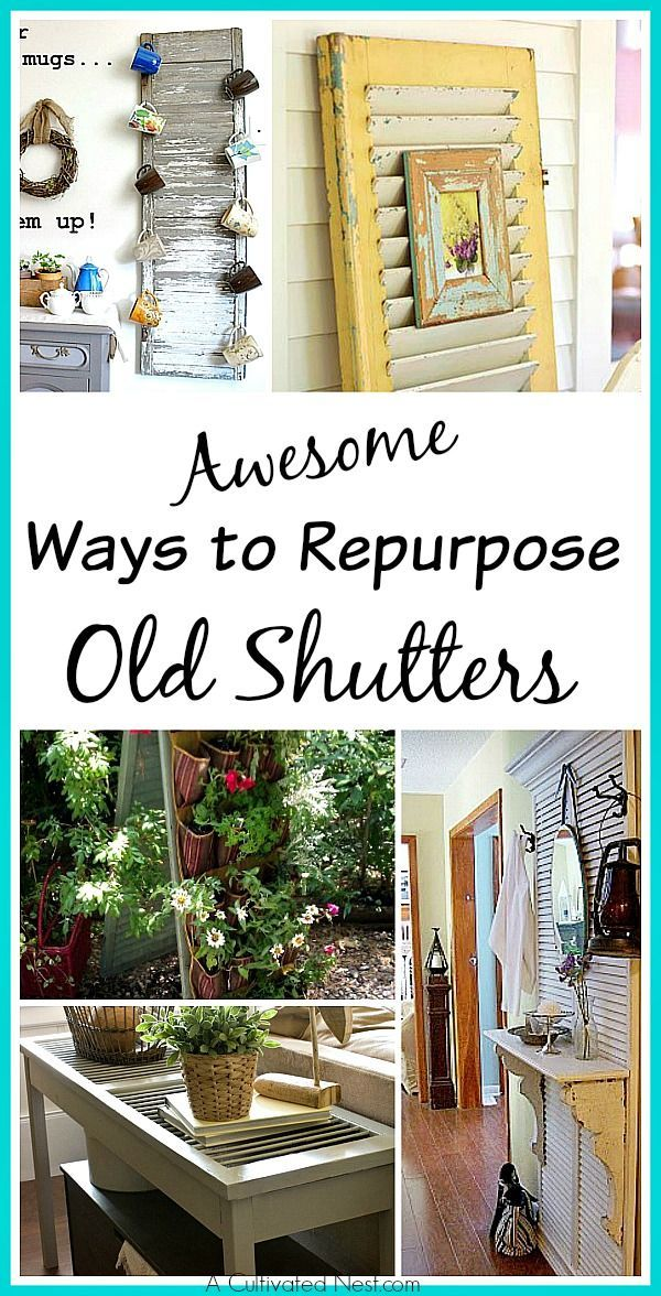 Awesome Ways To Repurpose Old Shutters - Lots of great inspiration!