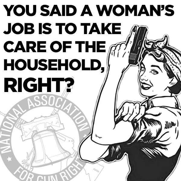 Women take care of the household.