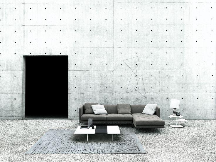 Easy Lipp design Piero Lissoni, B3  table design Victor Vasilev, low table Step design Mario Ferrarini, carpet Wired.