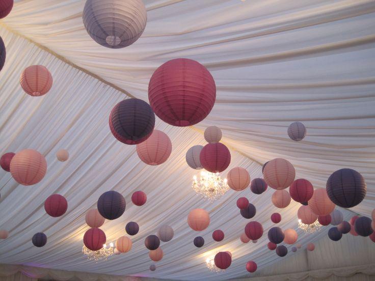 Our pink  purple wedding decor #lanterns #BC