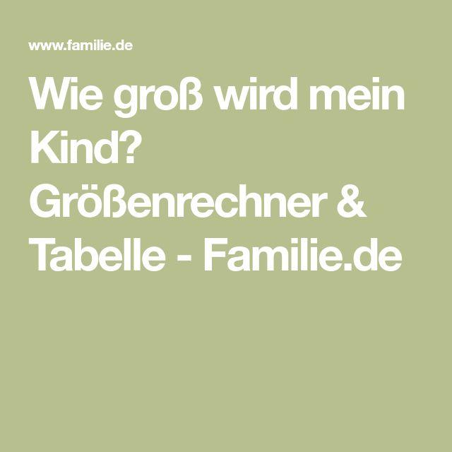 Wie groß wird mein Kind? Größenrechner & Tabelle - Familie.de