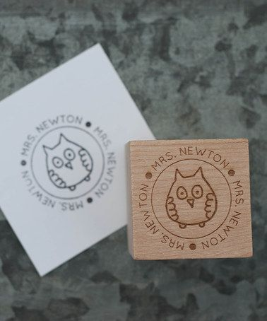 Another great find on #zulily! Owl Teacher Personalized Stamp by Expect Personality #zulilyfinds