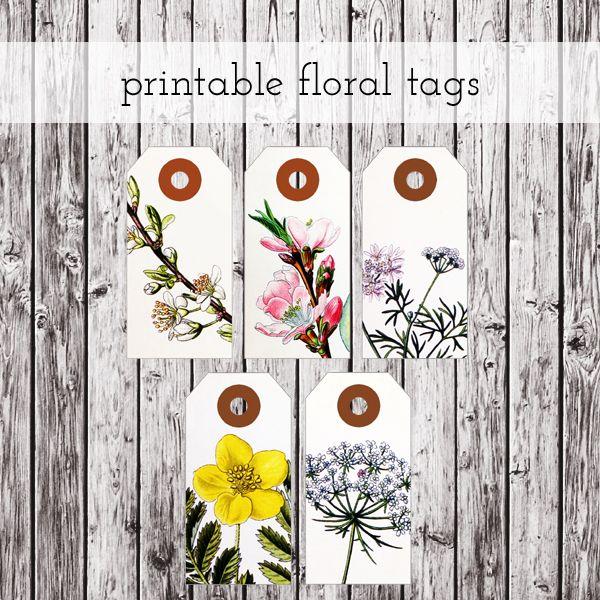 printable floral tags