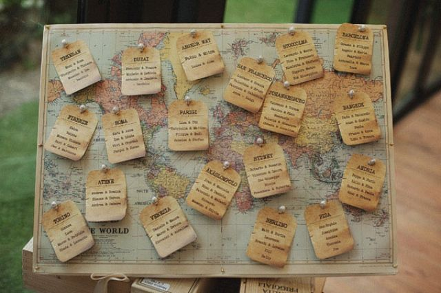 Een escort card table op je bruiloft | ThePerfectWedding.nl