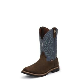 Heel:UNIT Height:11 Insole:J-FLEX® WITH ORTHOTIC INSERT Toe:J124, WIDE SQUARE Top Leather:BLUE Color:BROWNS Pullon/Laced:PULLON