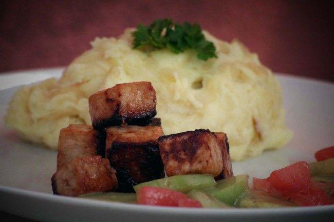 Marinerad tofu med potatismos