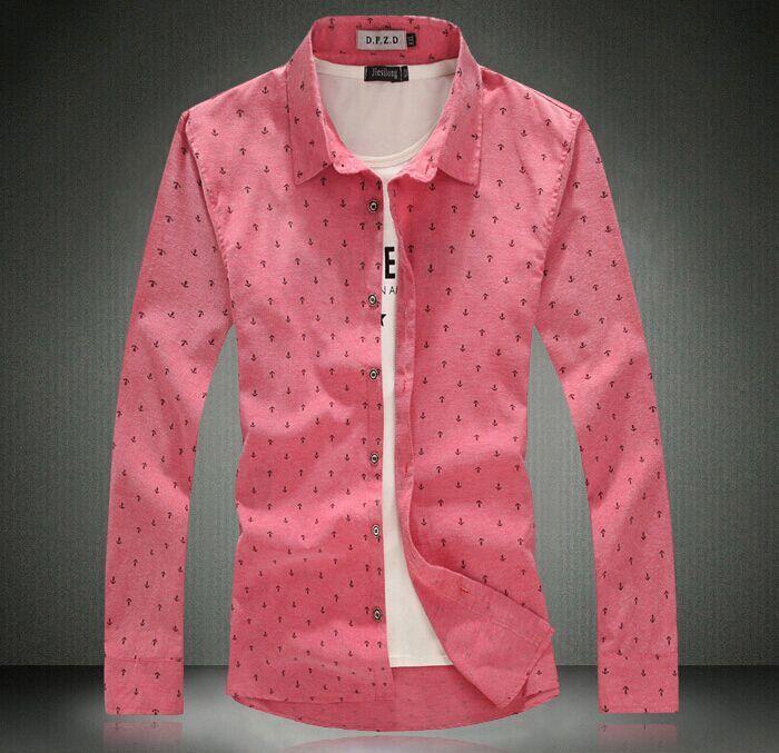 Мужские хлопчатобумажные и льняные рубашки большие дворы свободного покроя мужская рубашку с длинными рукавами печать нагрудные якорь синий красный XL / 2XL3XL / 4XL / 5XL, принадлежащий категории рубашки домашние муж. и относящийся к Одежда и аксессуары для мужчин на сайте AliExpress.com | Alibaba Group