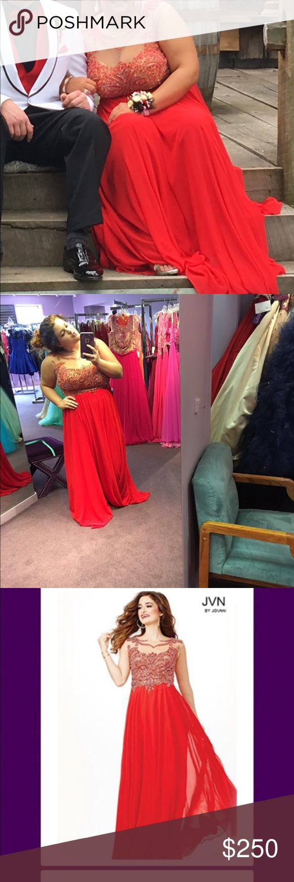 Selling my prom dress Red jovani jeweled prom dress for sale! Only worn once, in great condition bought at Henri's jovanni Dresses Prom