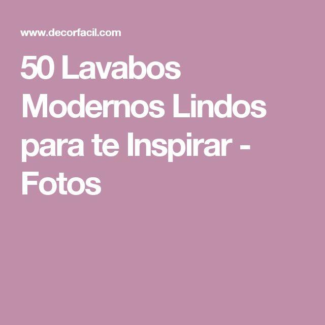 50 Lavabos Modernos Lindos para te Inspirar - Fotos