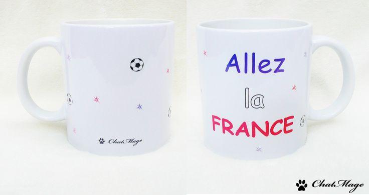 Allez la France ! ⚽ . #foot #football #euro #euro2016 #mug #mugs #france #teamfrance #equipedefrance #allezlesbleus #bleublancrouge #ballon #allezlafrance