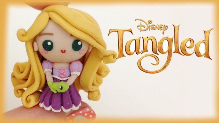Disney Rapunzel from Tangled Polymer Clay Tutorial (+playlist)