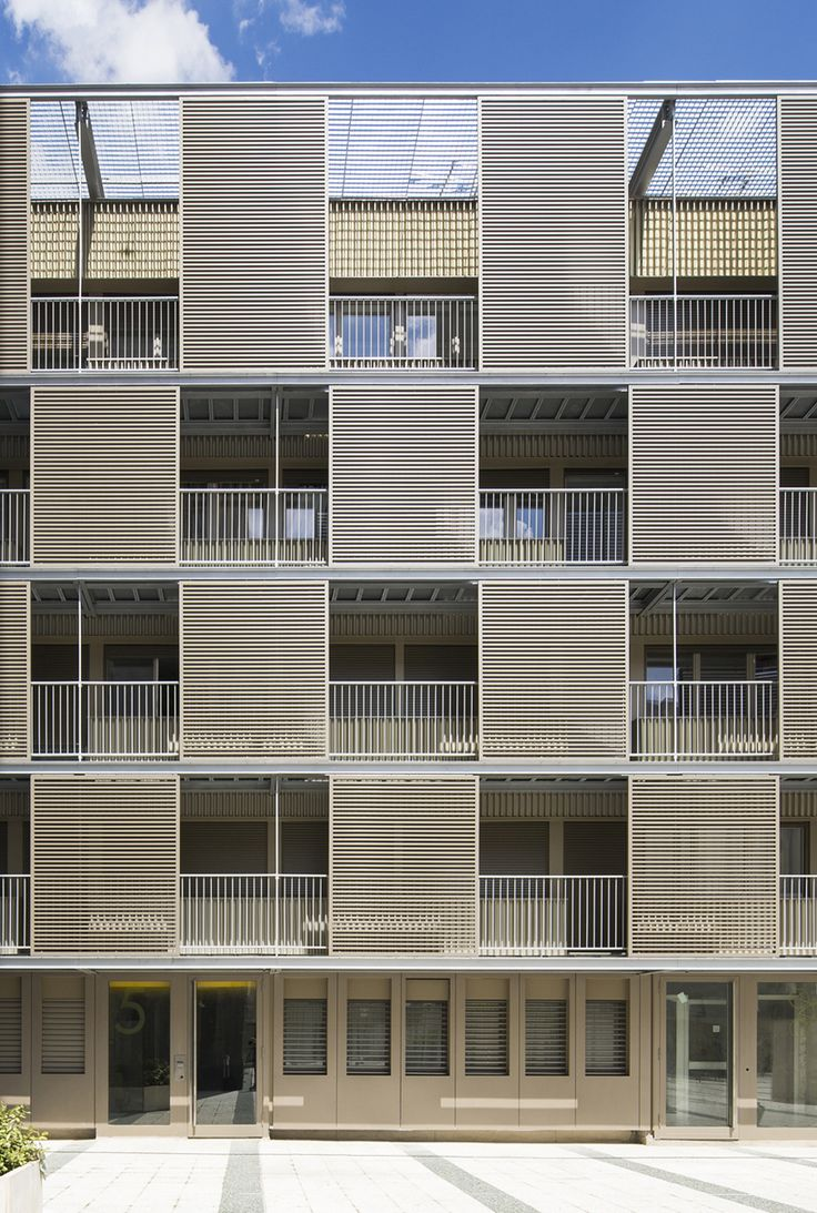 atelier du pont revitalize social housing block with new fa ade facades atelier and architecture. Black Bedroom Furniture Sets. Home Design Ideas