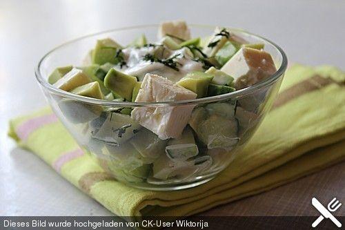 Avocado cucumber feta salad… can put into endives